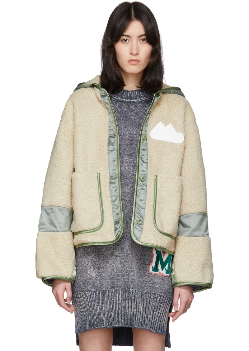 Maison Margiela Beige & Khaki Sherpa Fleece Jacket
