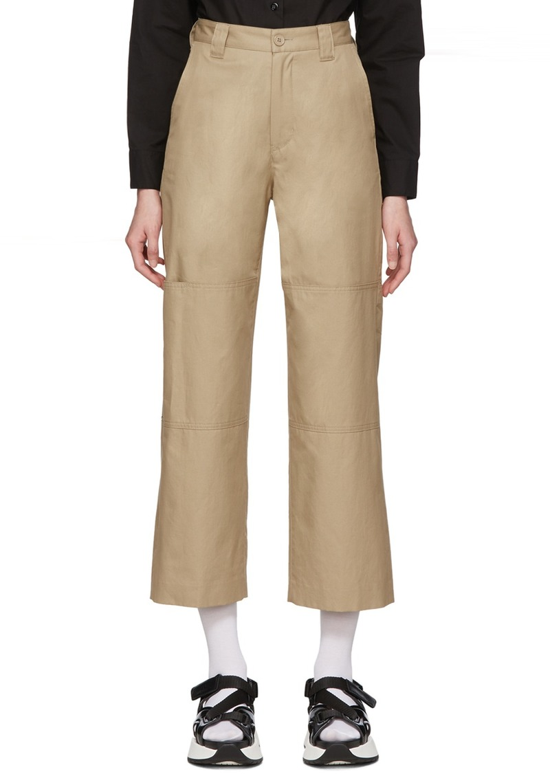 Maison Margiela Beige Double Knee Trousers