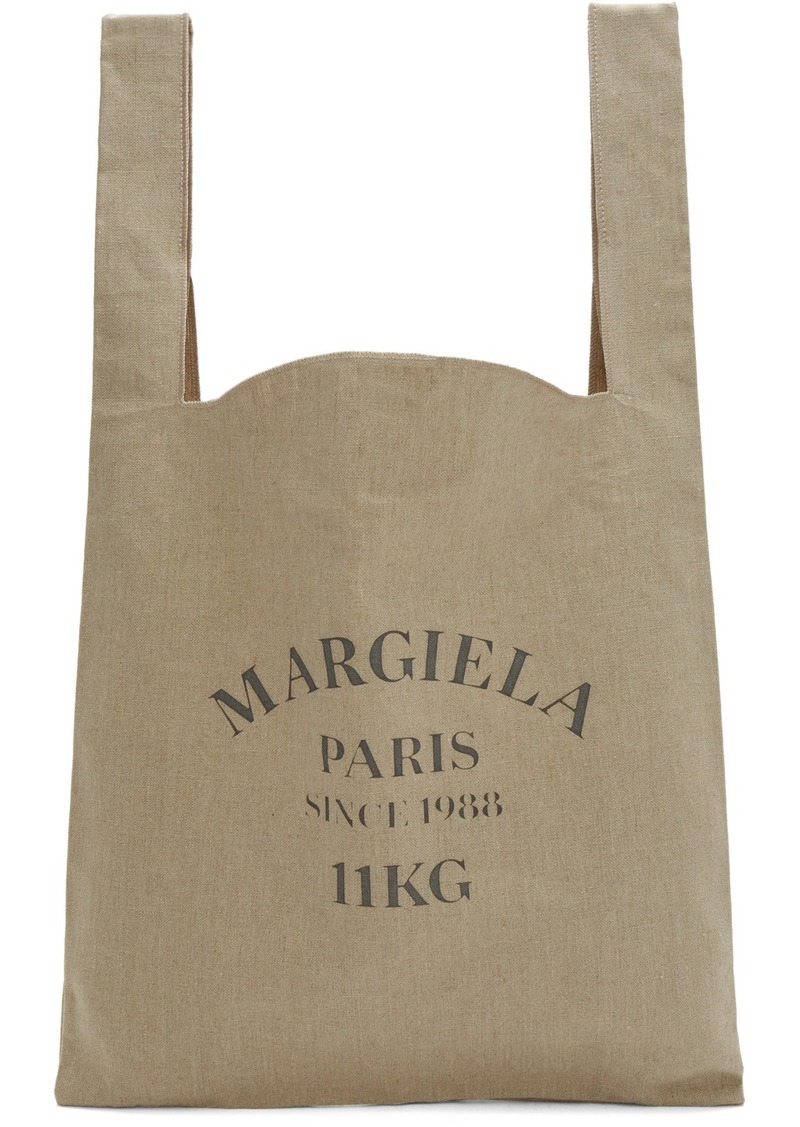 Maison Margiela Beige Linen XL Shopping Tote
