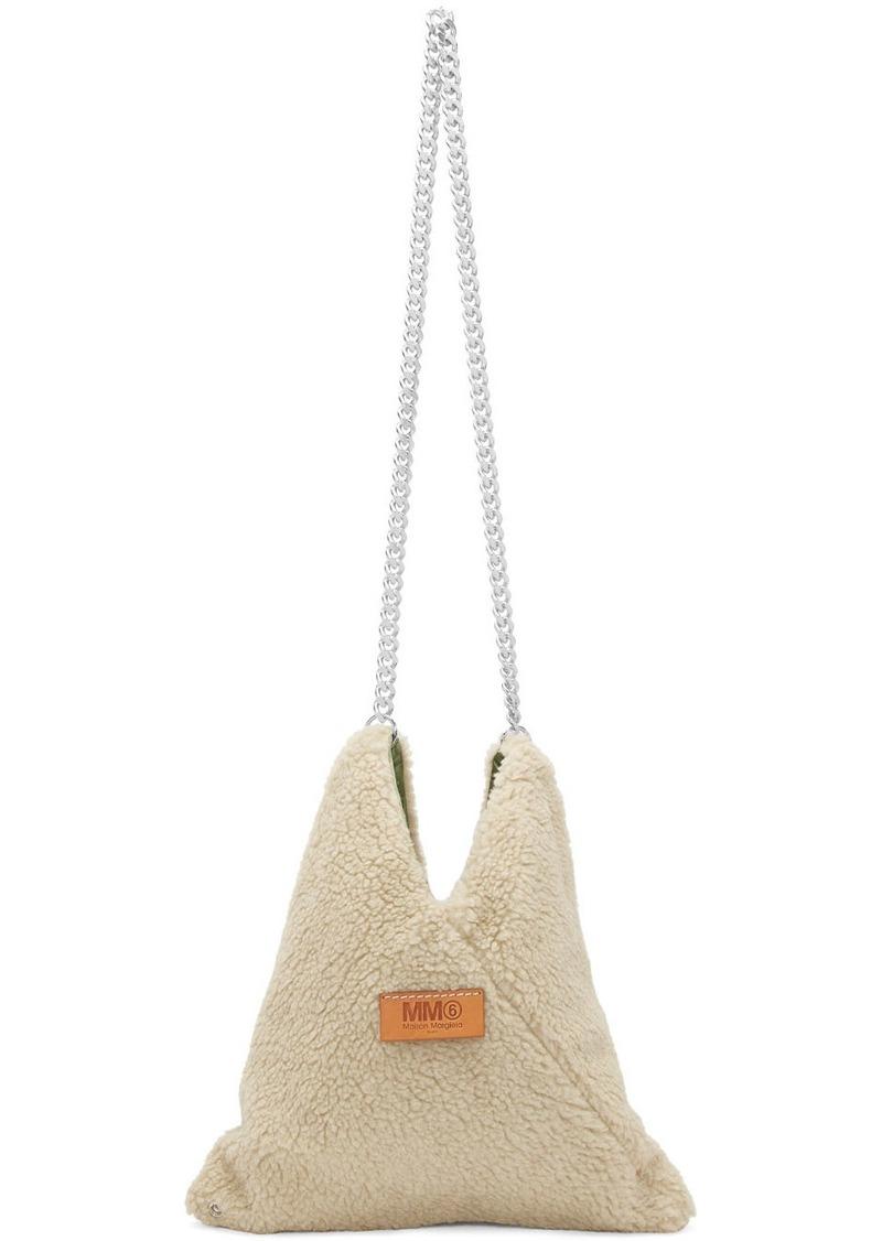 Maison Margiela Beige Sherpa Japanese Chain Bag