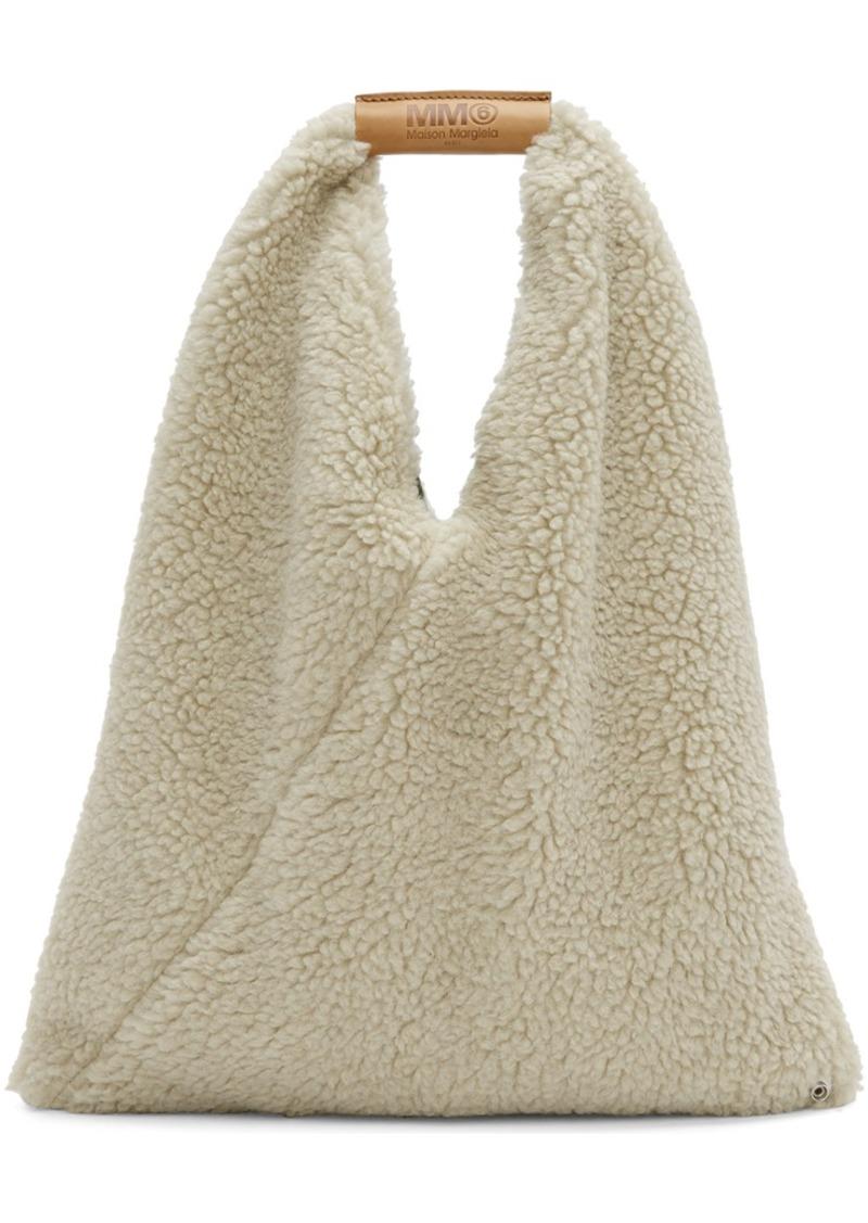 Maison Margiela Beige Small Teddy Triangle Bag