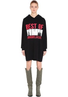 Maison Margiela Best Of Print Hooded Sweatshirt Dress