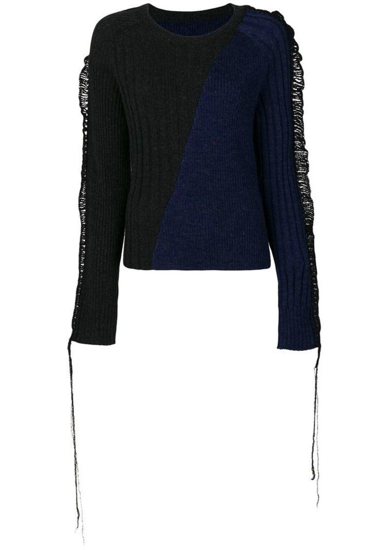 Maison Margiela bi-colour ribbed jumper