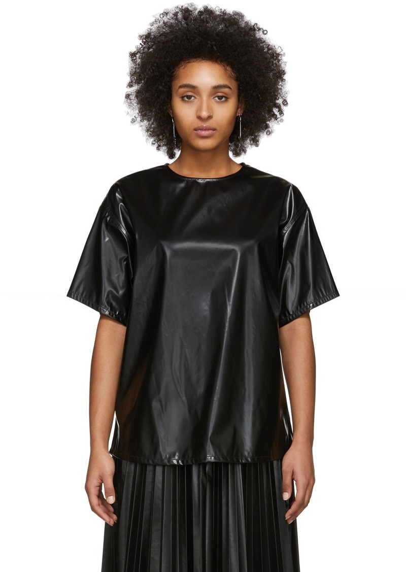 Maison Margiela Black Coated Zipped Blouse