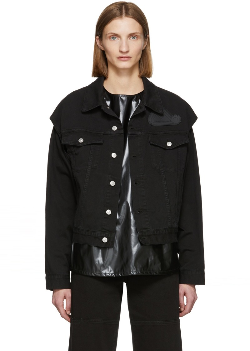 Maison Margiela Black Denim Arm Cut Outs Jackets