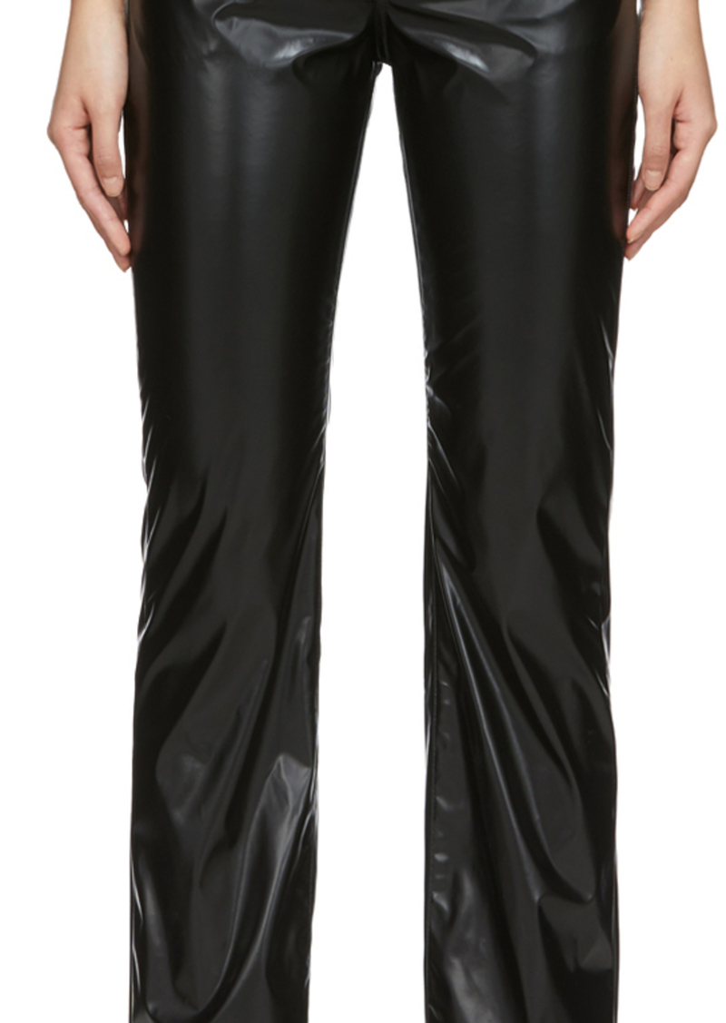 Maison Margiela Black Faux-Leather Trousers
