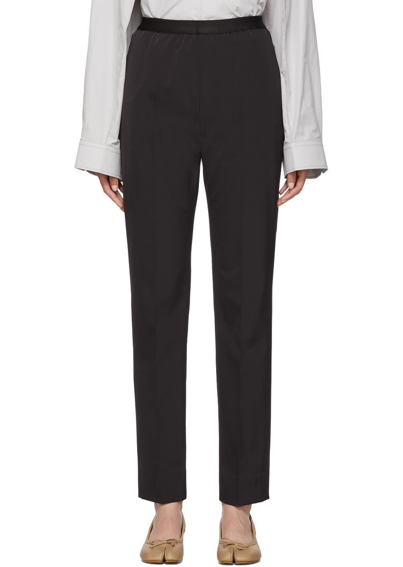 Maison Margiela Black Gabardine Trousers