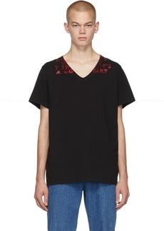 Maison Margiela Black Glitter Print T-Shirt