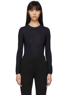 Maison Margiela Black Jersey Long Sleeve Bodysuit