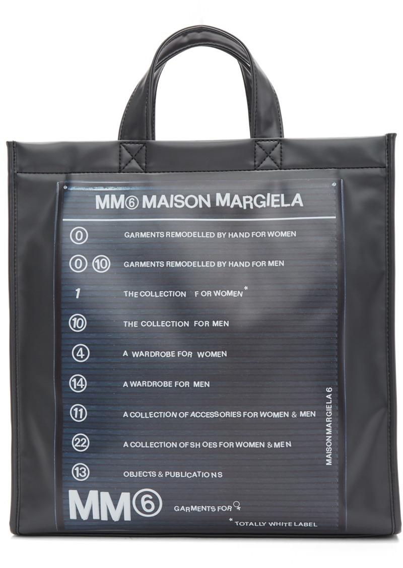 Maison Margiela Black Logo Backpack Shopper Tote