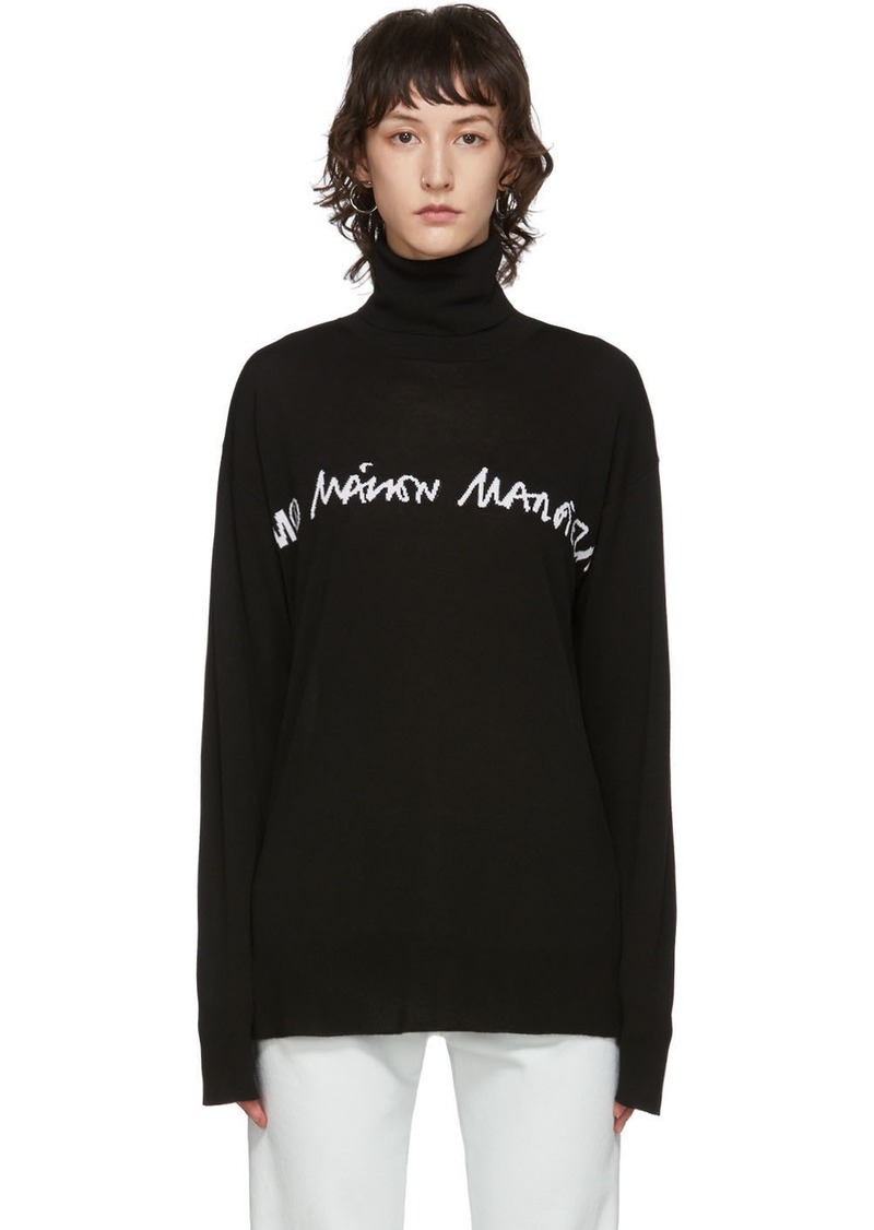 Maison Margiela Black Logo Turtleneck