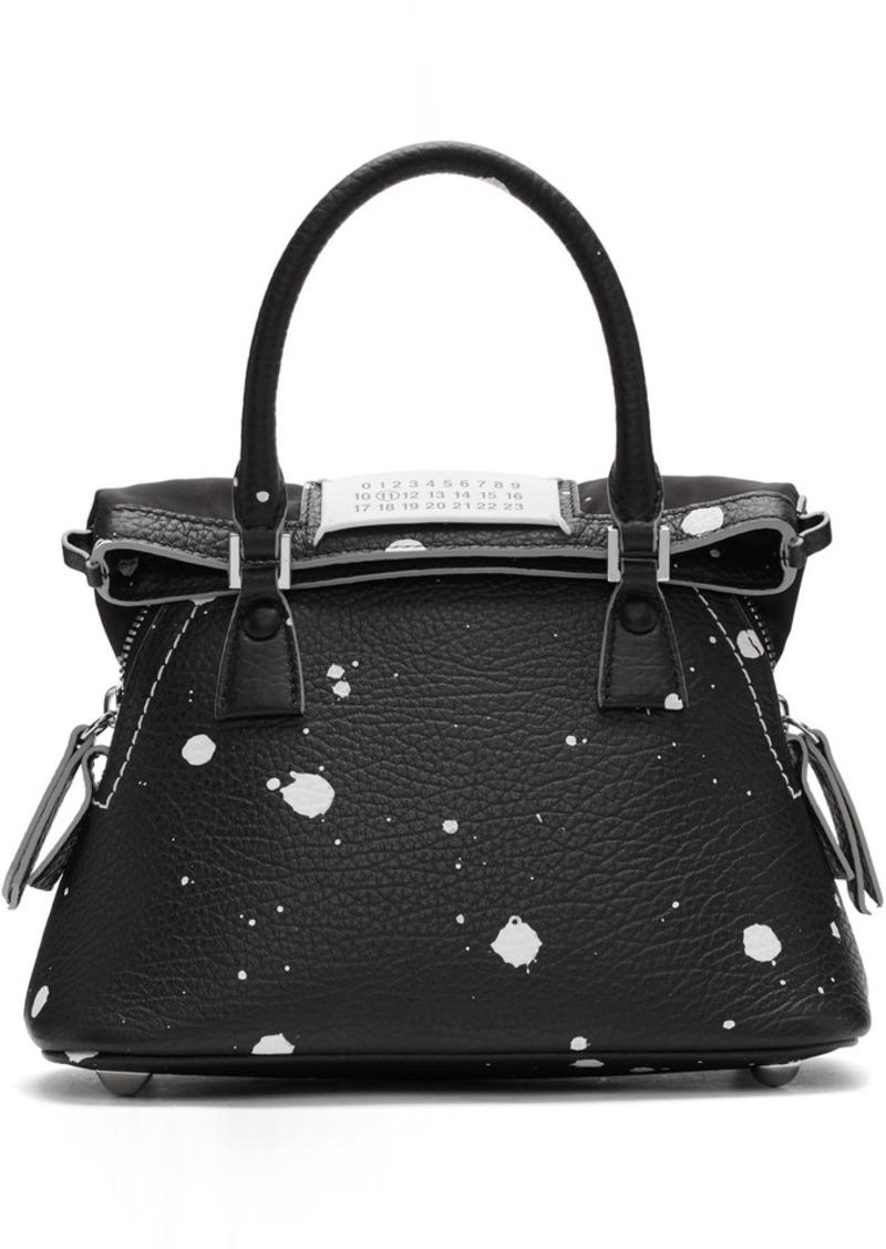 Maison Margiela Black Paint Splatter Small 5AC Bag