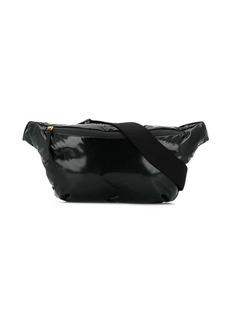 Maison Margiela black patent belt bag
