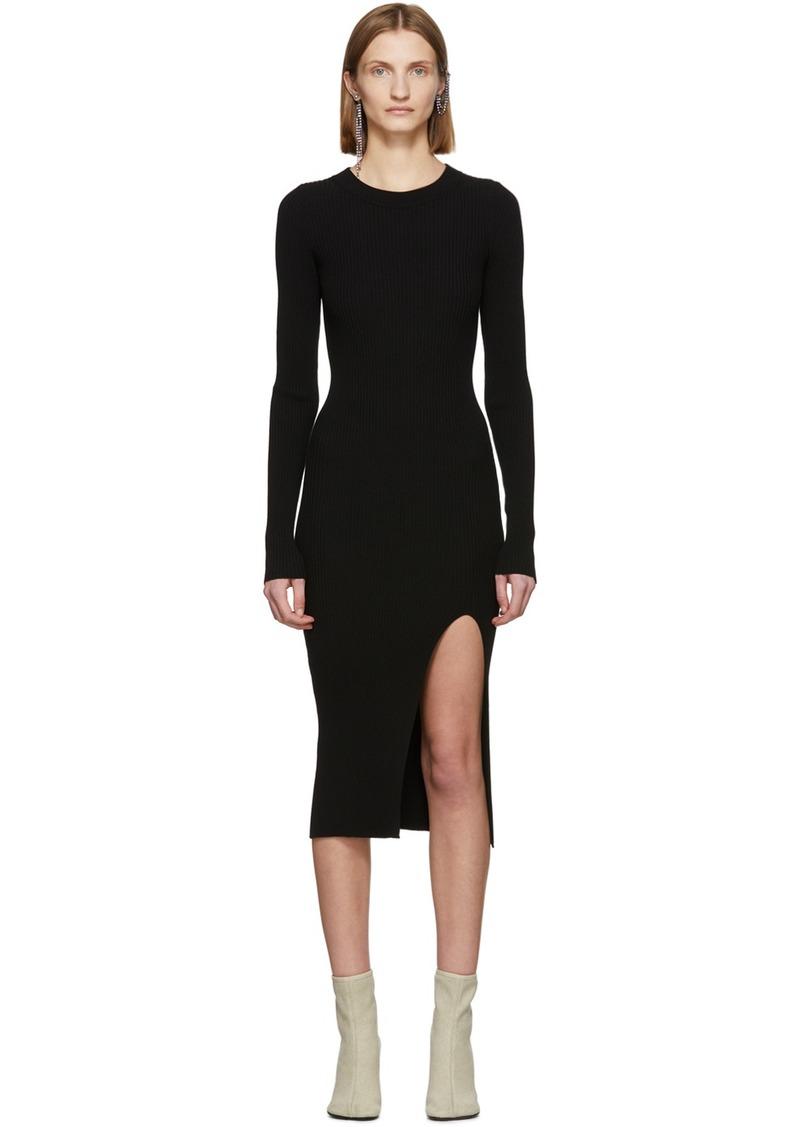 Maison Margiela Black Ribbed Back Cut-Out Dress