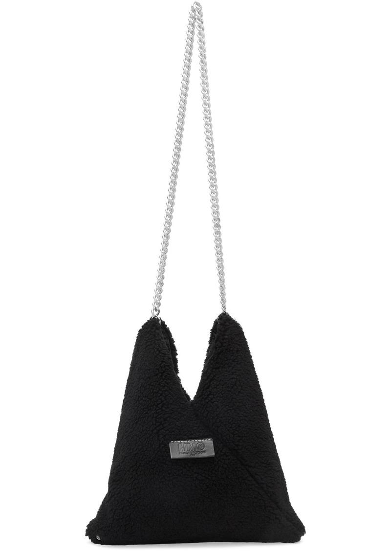 Maison Margiela Black Sherpa Chain Bag