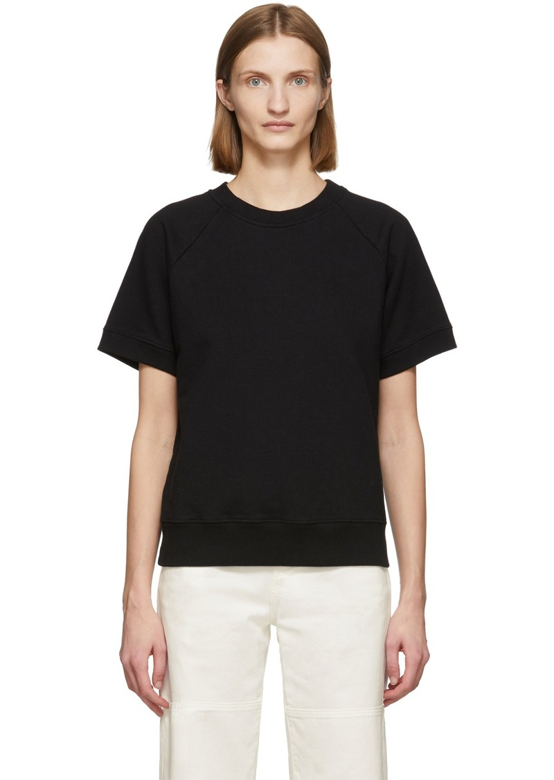 Maison Margiela Black Short Sleeve Sweatshirt