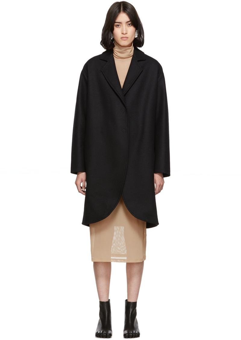 Maison Margiela Black Wool Overcoat