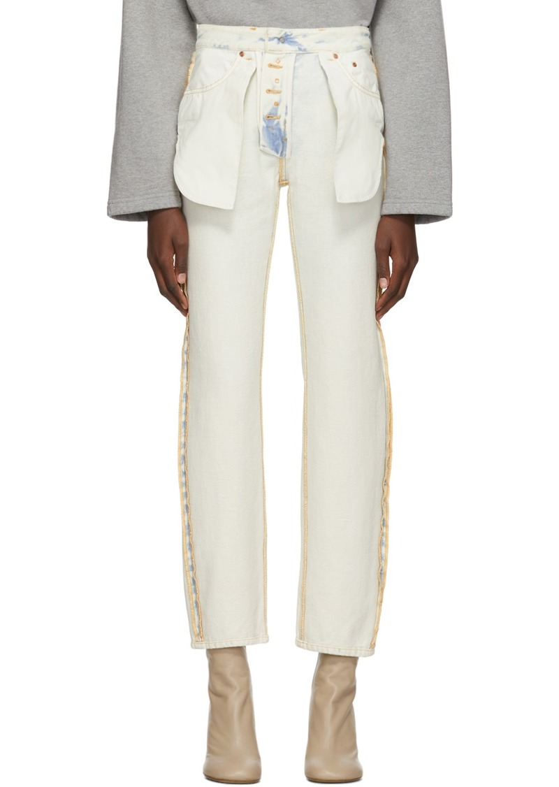 Maison Margiela Blue & White Inside-Out Jeans