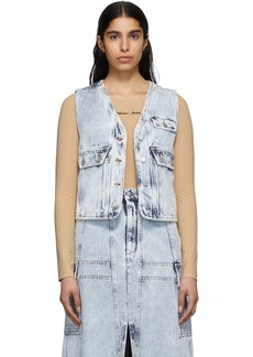 Maison Margiela Blue Acid Wash Denim Vest
