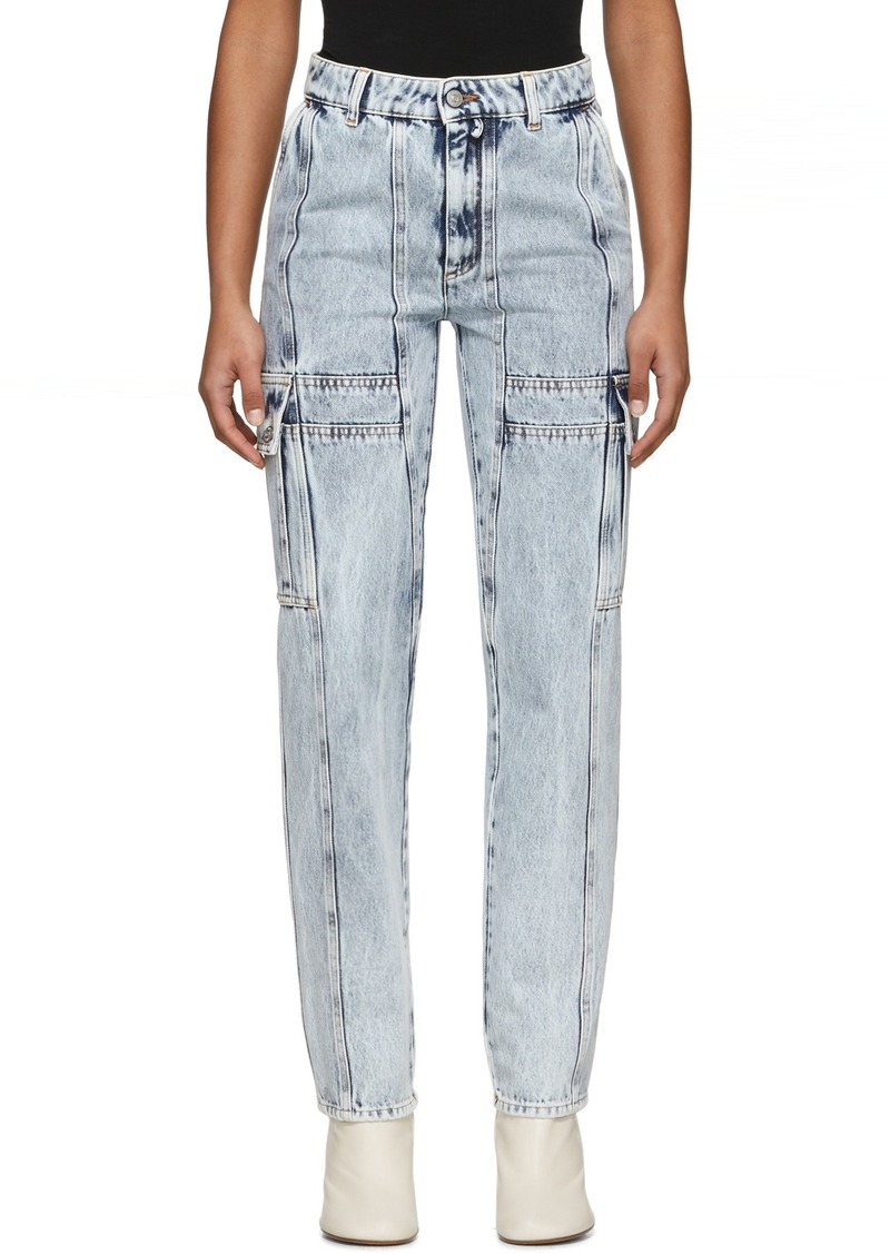 Maison Margiela Blue Bleached Cargo Jeans