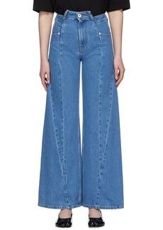 Maison Margiela Blue Décortiqué Asymmetric Wide-Leg Jeans
