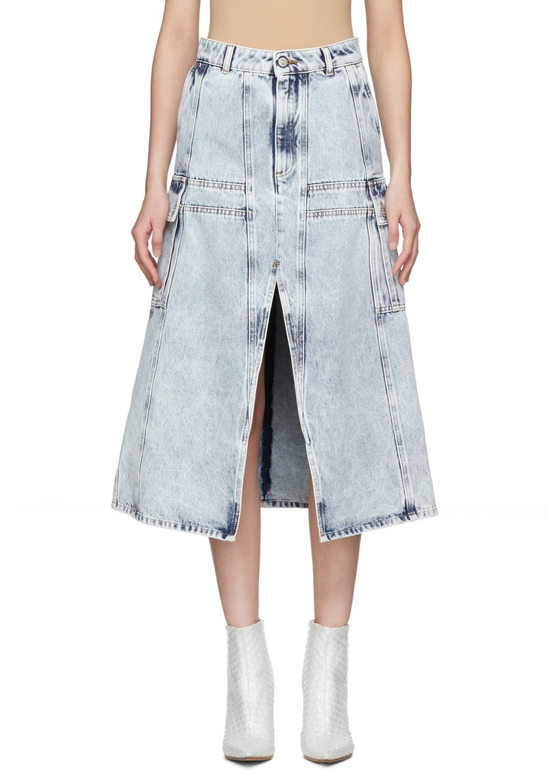 Maison Margiela Blue Denim A-Line Cargo Skirt
