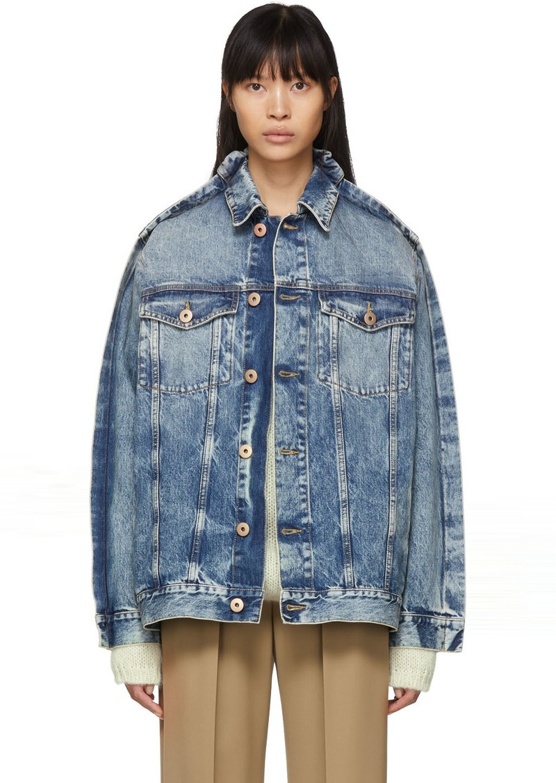 Maison Margiela Blue Denim Double Collar Jacket