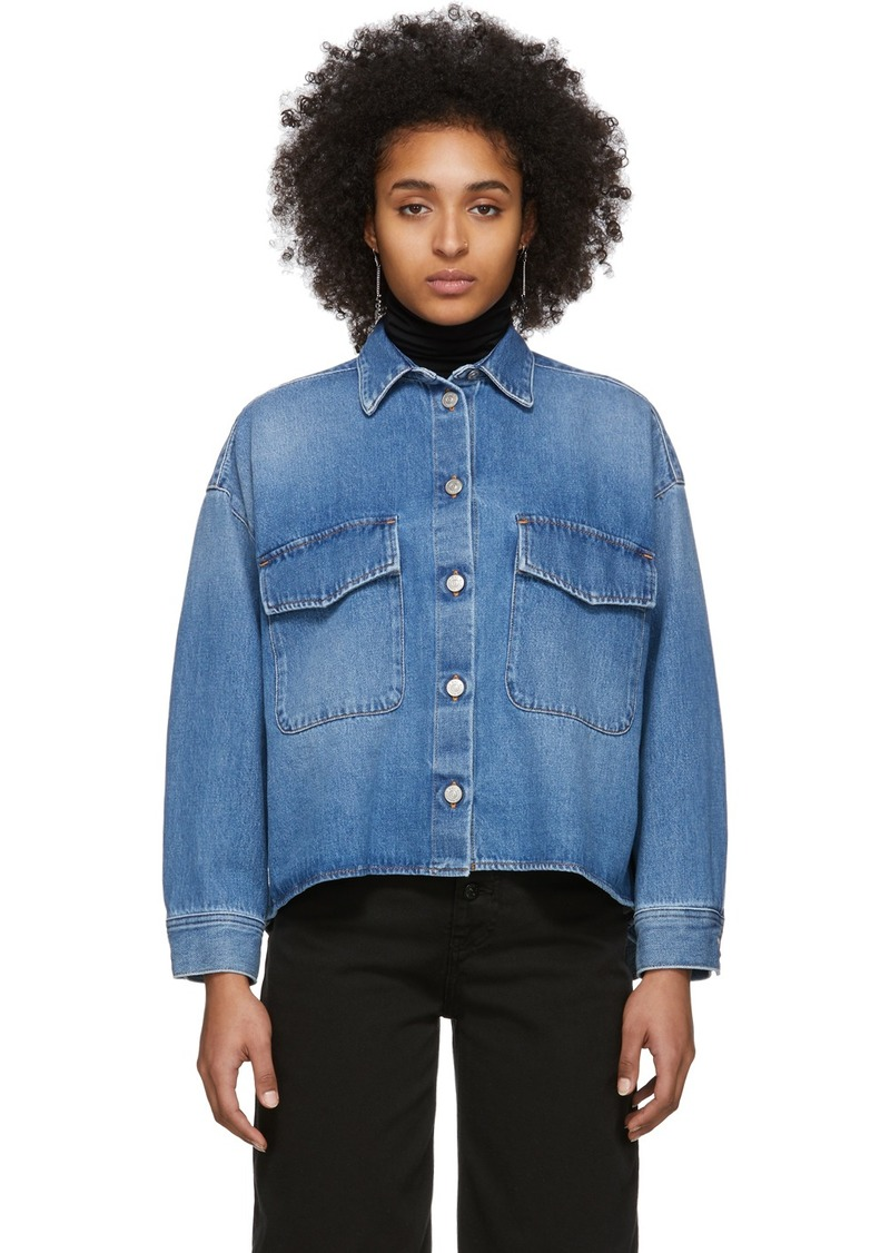 Maison Margiela Blue Denim Double Pocket Shirt