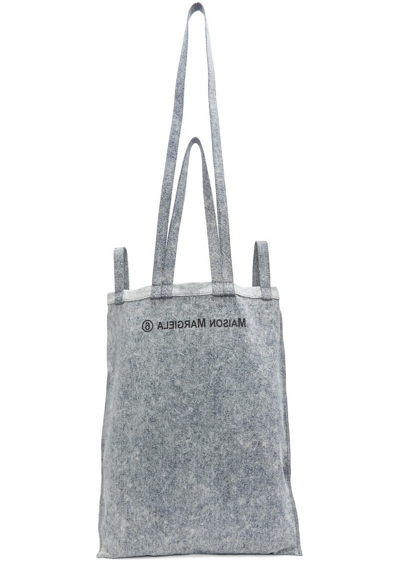 Maison Margiela Blue Denim Six-Handle Bag