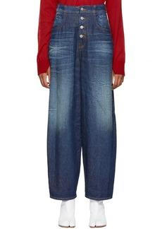 Maison Margiela Blue High-Waisted Jeans