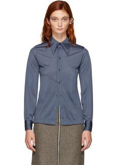 Maison Margiela Blue Jersey Shirt