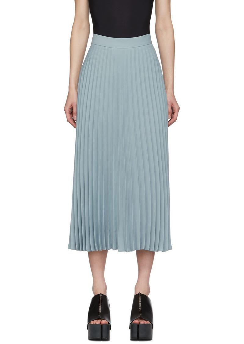 Maison Margiela Blue Pleated Skirt