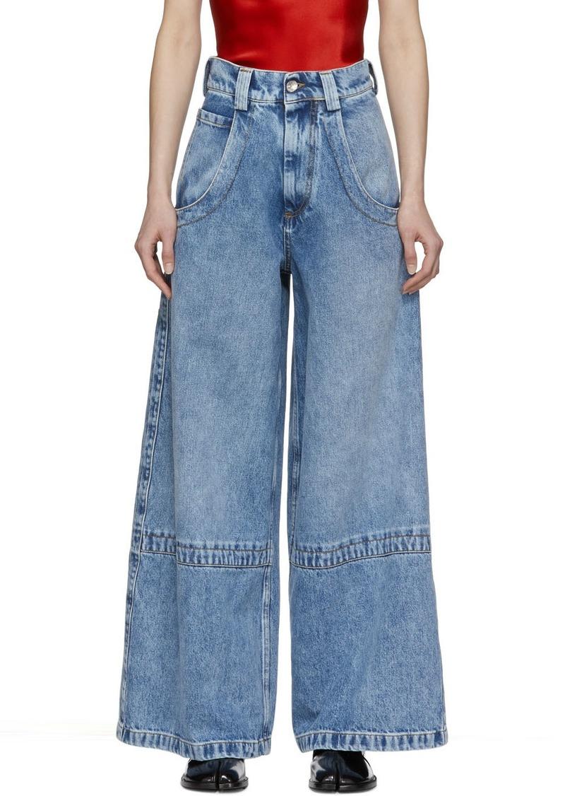 Maison Margiela Blue Wide-Leg Jeans