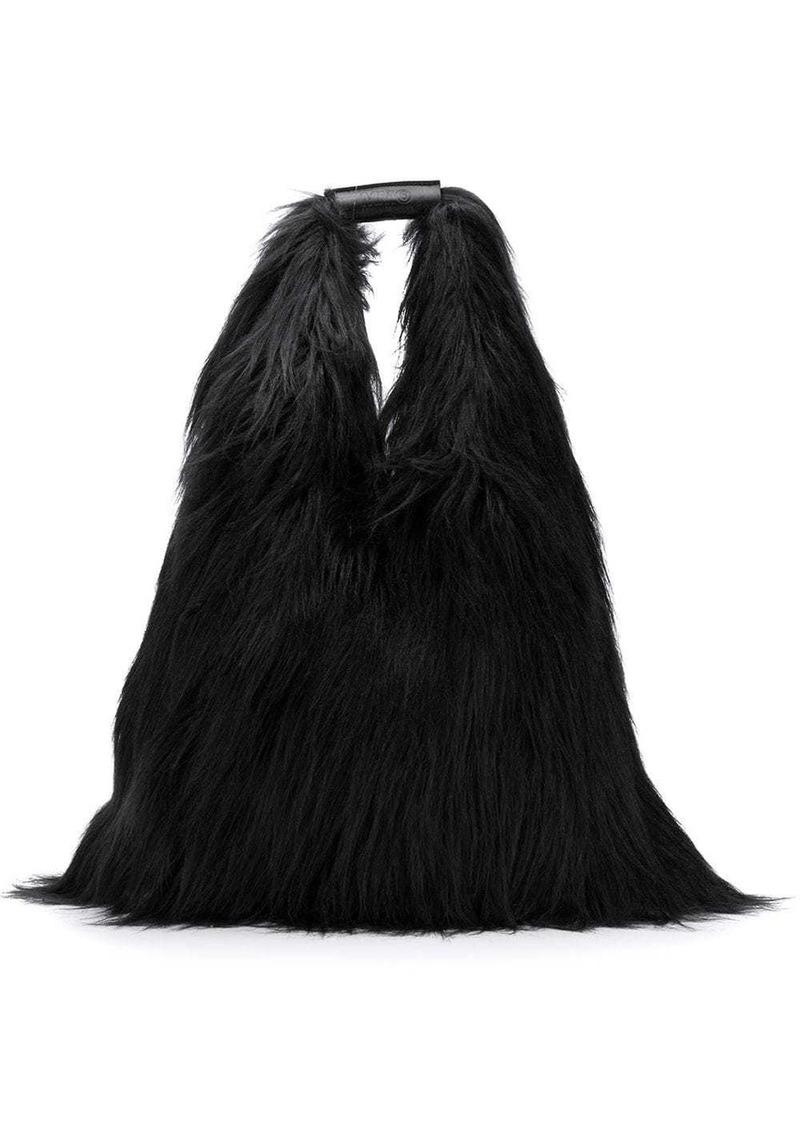 Maison Margiela borsa faux-fur tote bag