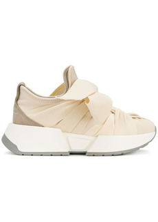 Maison Margiela bow front gathered effect sneakers