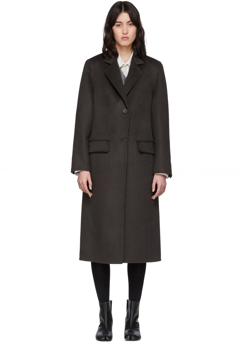 Maison Margiela Brown Cashgora Coat