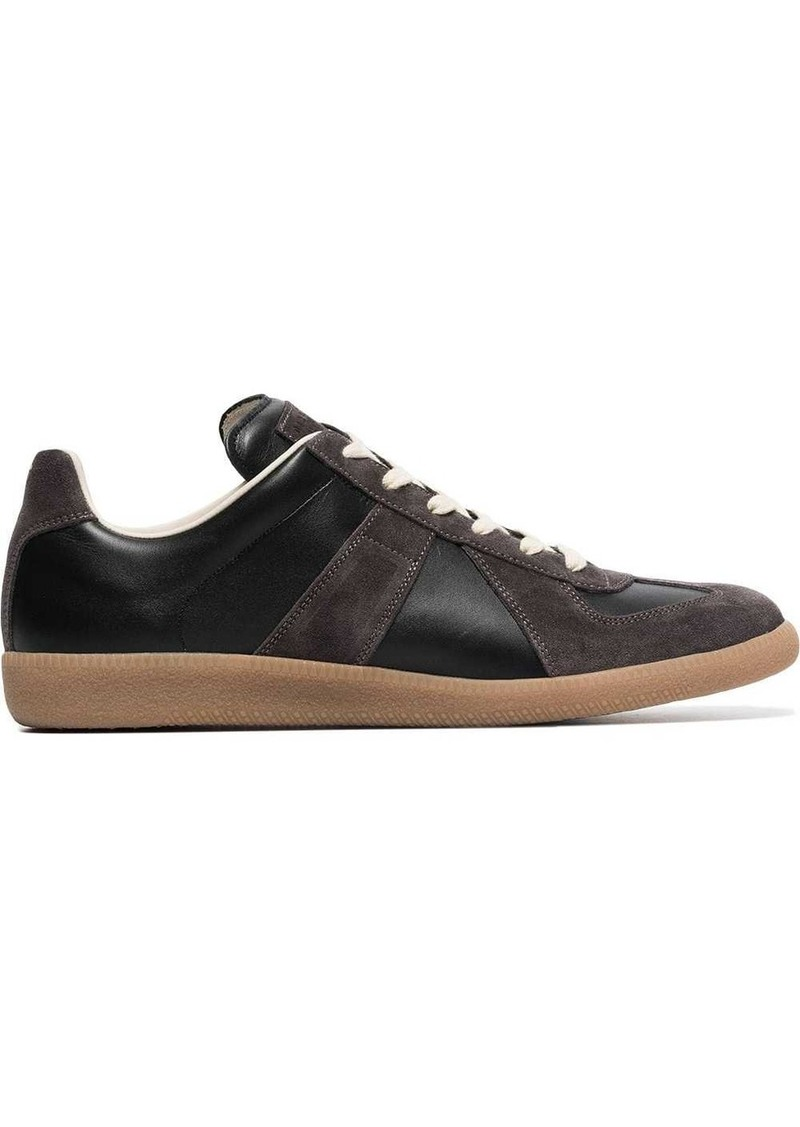 Maison Margiela brown Replica suede leather sneakers