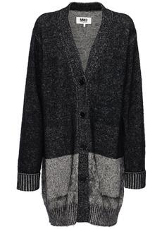 Maison Margiela Brushed Cotton Blend Knit Cardigan