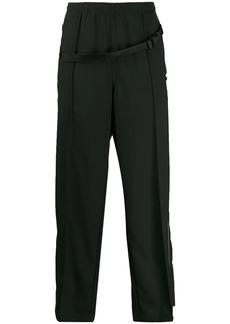 Maison Margiela buckled strap trousers