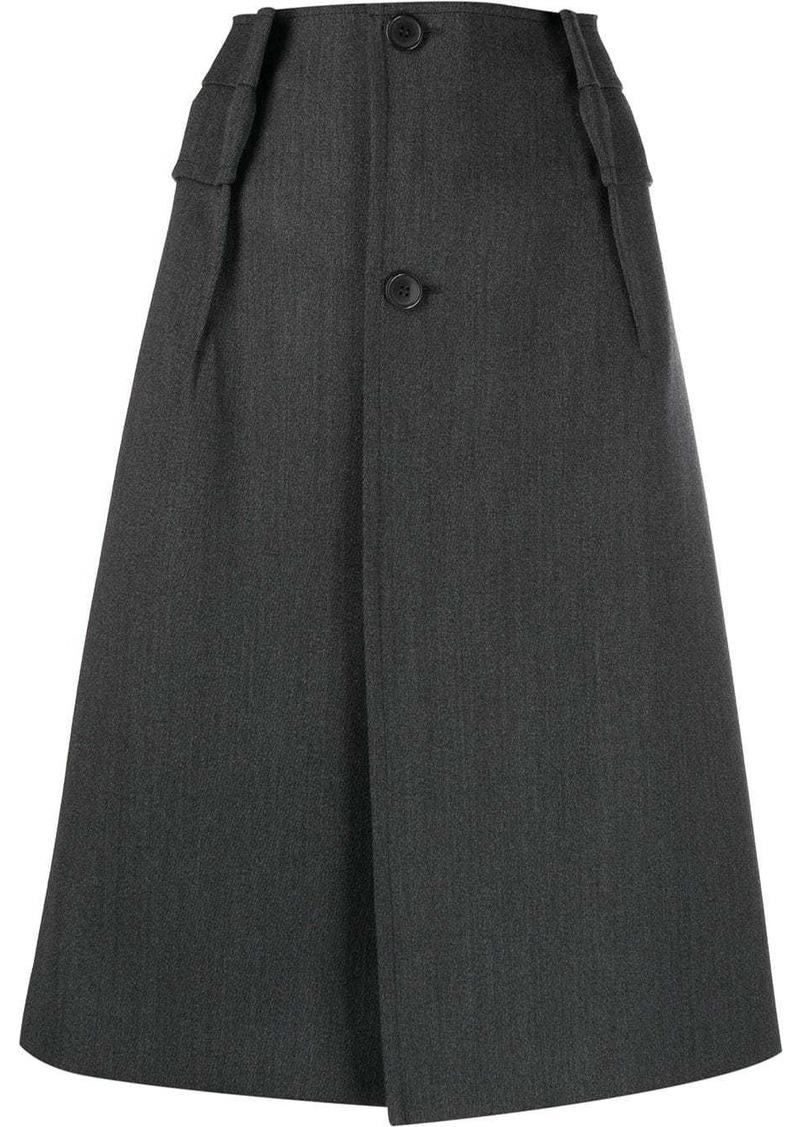 Maison Margiela buttoned A-line skirt