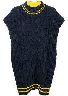 Maison Margiela cable knit oversized sweater scarf