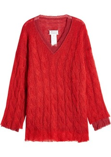 Maison Margiela Cable Knit Pullover with Alpaca, Mohair and Wool