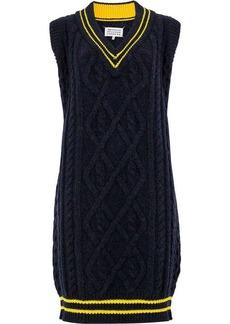 Maison Margiela cable knit sweater dress