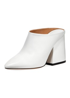 Maison Margiela Calf Leather Pointed-Toe Block-Heel Mules
