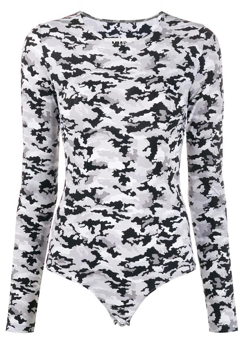 Maison Margiela camouflage-print bodysuit