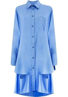 Maison Margiela cape cut-out shirt