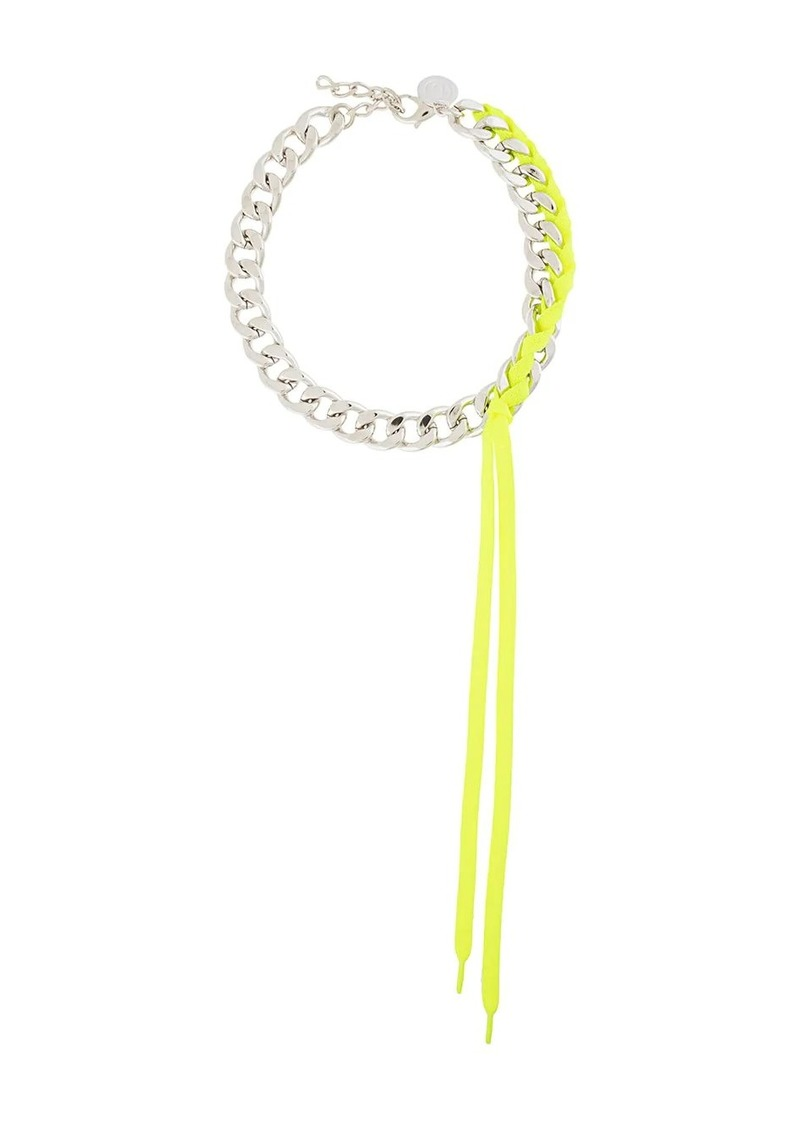 Maison Margiela chain and fluorescent necklace
