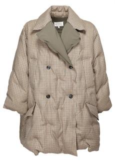 Maison Margiela Check Double Breast Wool Down Jacket