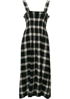 Maison Margiela check flared midi dress