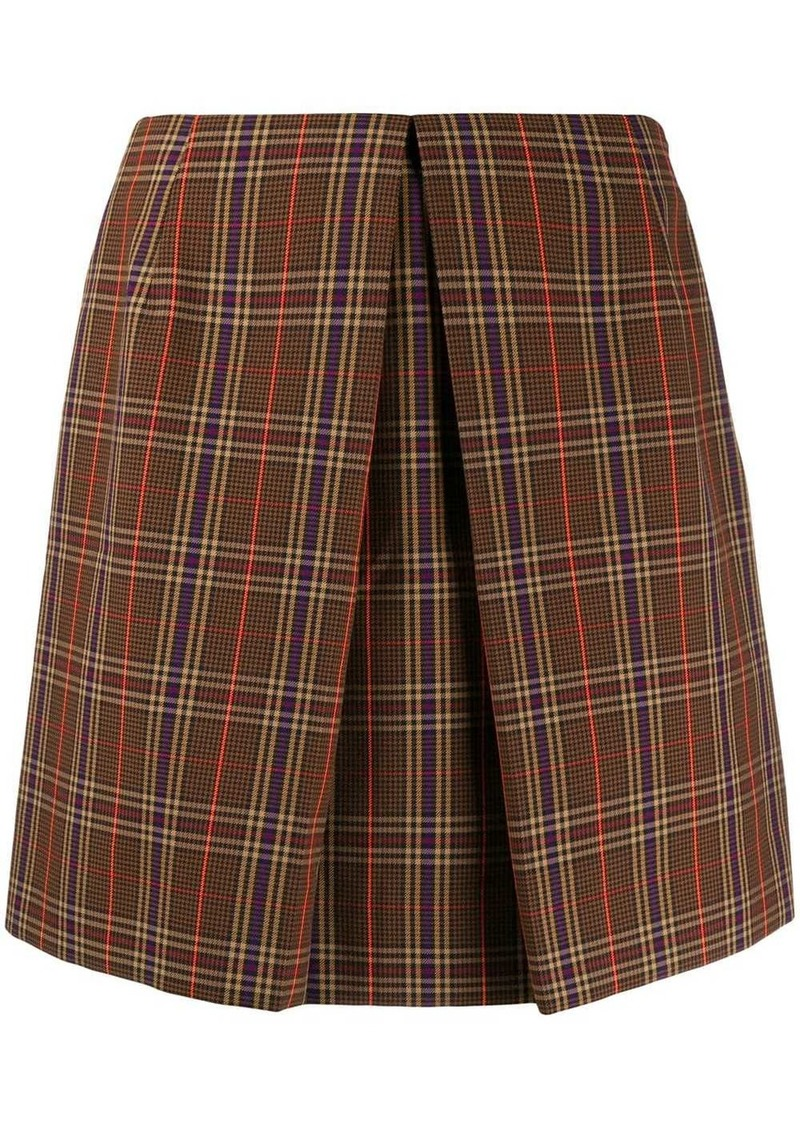 Maison Margiela check mini skirt